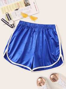 Contrast Binding Dolphin Shorts