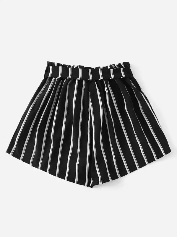 d6e3ad698 Plus Striped Paper Bag Belted Shorts. AddThis Sharing Buttons