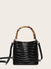 Crocodile Pattern Bag with Inner Pouch