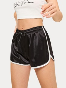 Contrast Binding Dolphin Track Shorts
