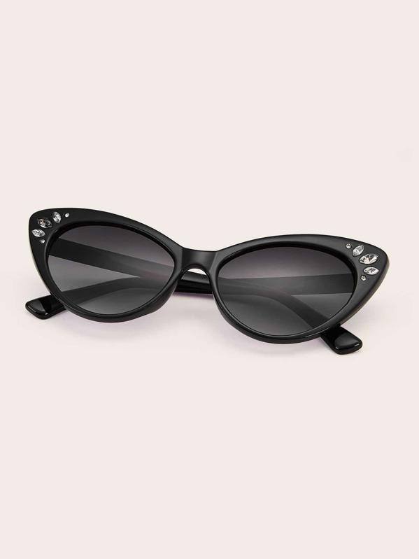 d8d7f39cab Gafas de sol de ojo de gato con diseño de diamante de imitación | SHEIN ES