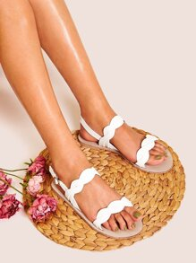 Open Toe Buckle Strap Sandals