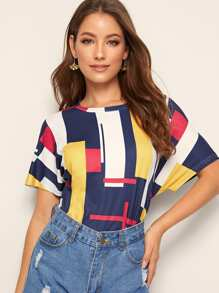 Colorful Patchwork Tee