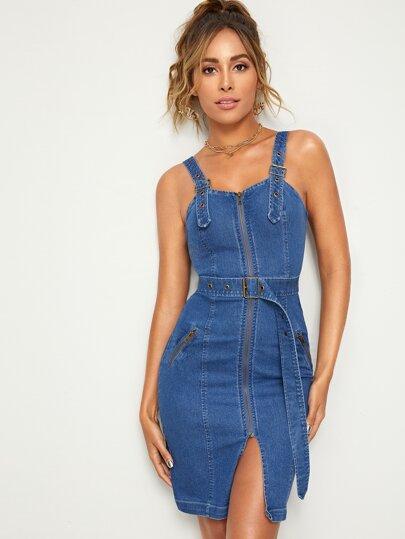 2458998649a5ca5 Джинсовые платья | Женская Одежда Джинсовые платья Online | SHEIN