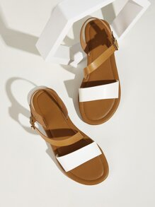 Buckle Strap Open Toe Sandals