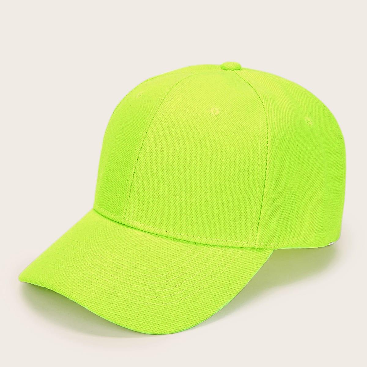 SHEIN coupon: Men Neon Green Baseball Cap