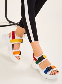 Release Buckle Chunky Sandals