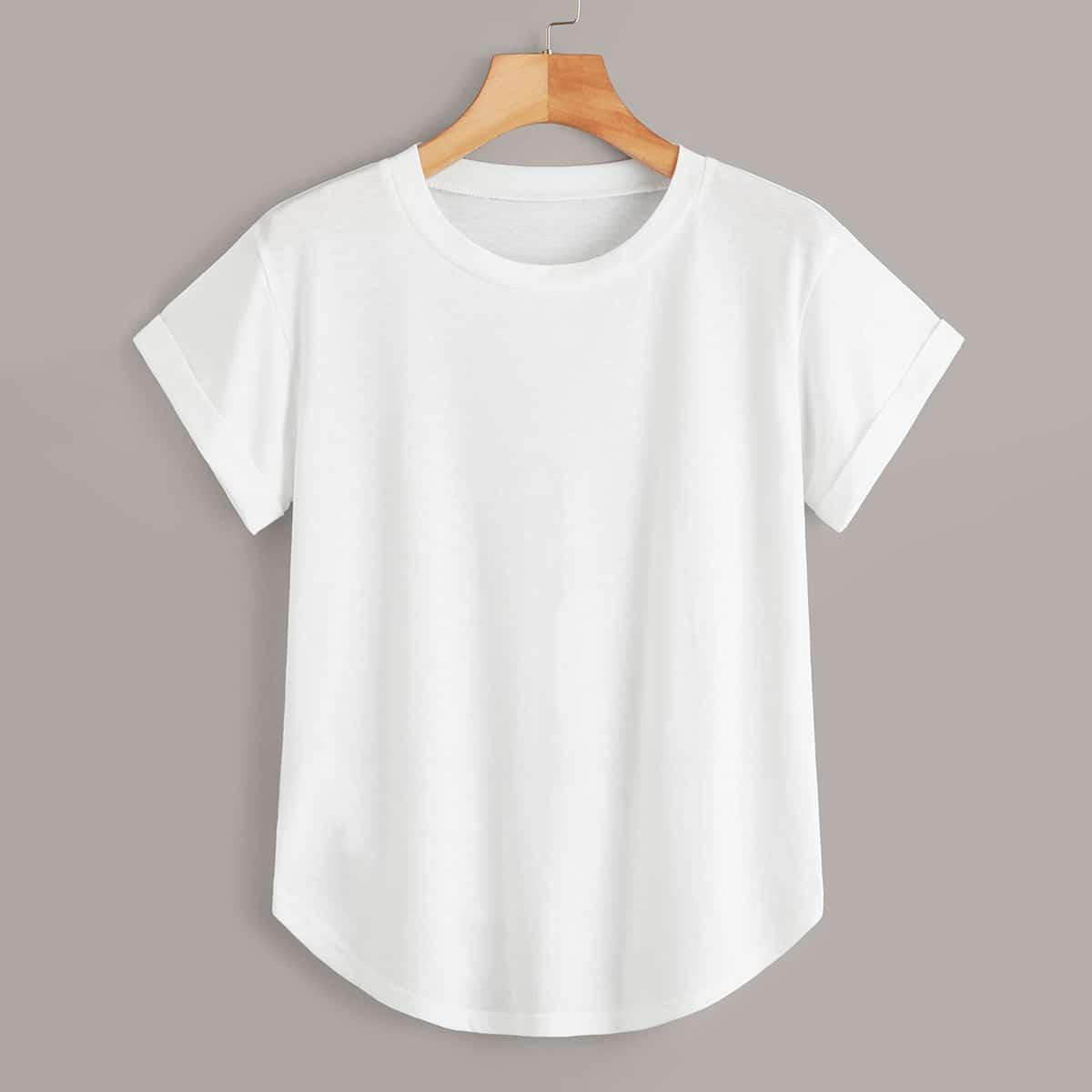 Wit Basics Vlak T-shirts