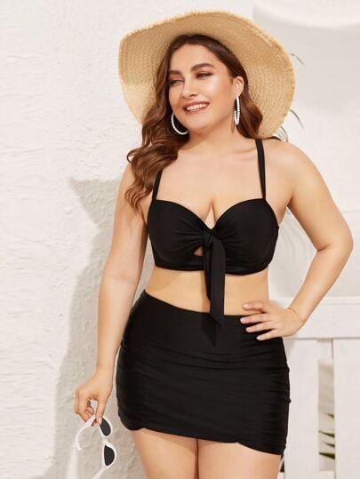 1a49b48165 Plus Size Swimwear, Plus Size Bikinis | SHEIN IN