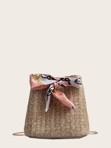 Twilly Scarf Woven Bucket Bag