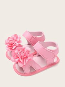 Baby Girls Floral Decor Sandals
