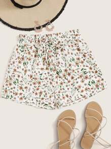 Ditsy Floral Knot Shorts