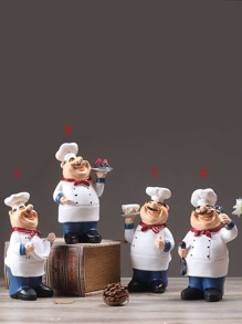 Chef Shaped Decorative Object 1pc