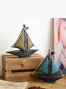 Sailboat Shaped Decorative Object 1pc