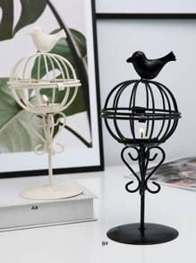 Birdcage Shaped Candlestick 1pc