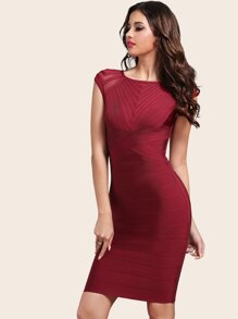 Adyce Zip Back Bodycon Bandage Dress