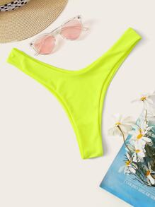 Neon Yellow High Cut Swimming Panty