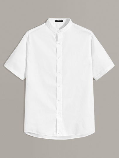 Guys Solid Short Sleeve Shirt