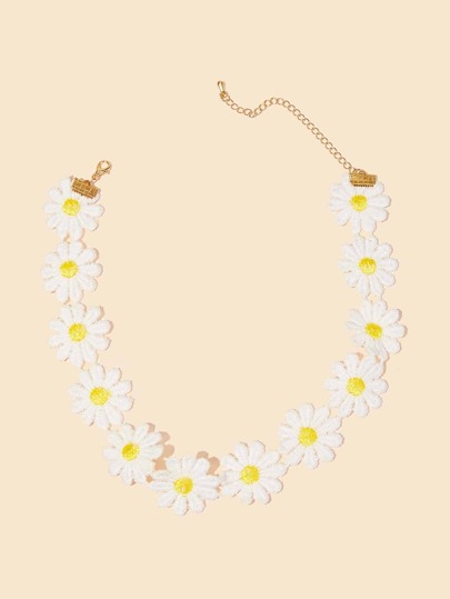 Toddler Girls Daisy Design Necklace 1pc