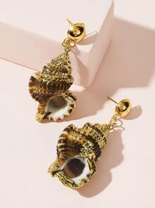 Shell Drop Earrings 1pair