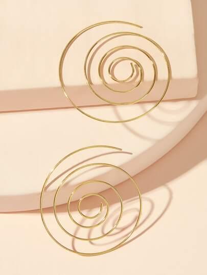 703dc46cf3 Boucles d'oreilles en spirale 1 paire