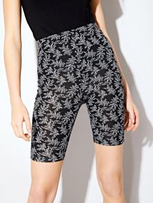 Botanic Print Cycling Shorts