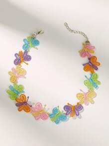 Butterfly Decor Necklace 1pc