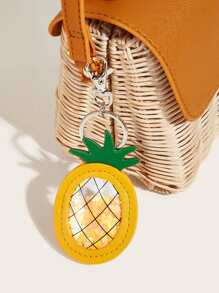 Heart Sequin Detail Pineapple Shaped Bag Accessory