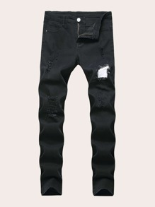 Men Solid Ripped Jeans