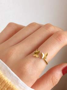Butterfly Cuff Ring 1pc
