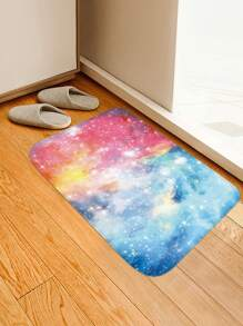 Colorful Galaxy Print Floor Mat