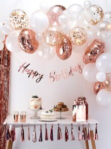 Sequin Decor Balloon Set 31pcs With Birthday Banner