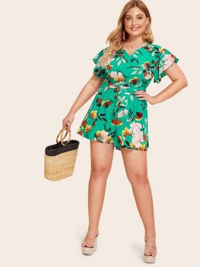 f8e5b60ae199f Women's Plus Size Jumpsuits & Rompers | SHEIN