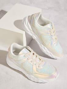 Sequin Decor Chunky Sole Sneakers