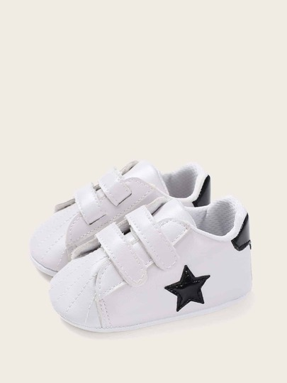 Baby Boys Star Patch Decor Pram Shoes
