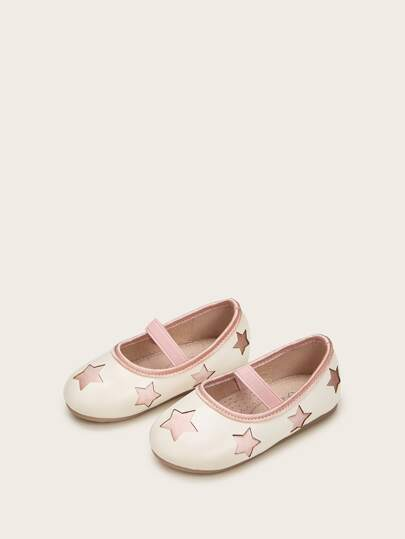 Baby Girls Star Decor Flats