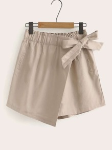 Solid Wrap Self Tie Skort