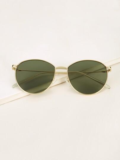 10d27c9f9e Round Metal Frame Tinted Lens Sunglasses