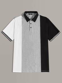 Men Color-block Polo Shirt