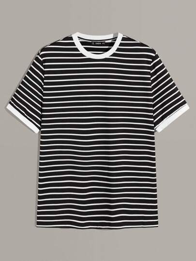 Guys Striped Ringer Tee