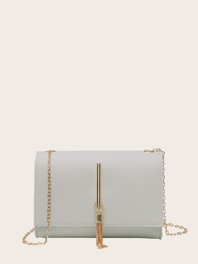 Metal Tassel Chain Crossbody Bag