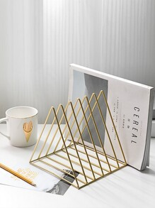 Triangle Shaped Desktop Book Storage Rack