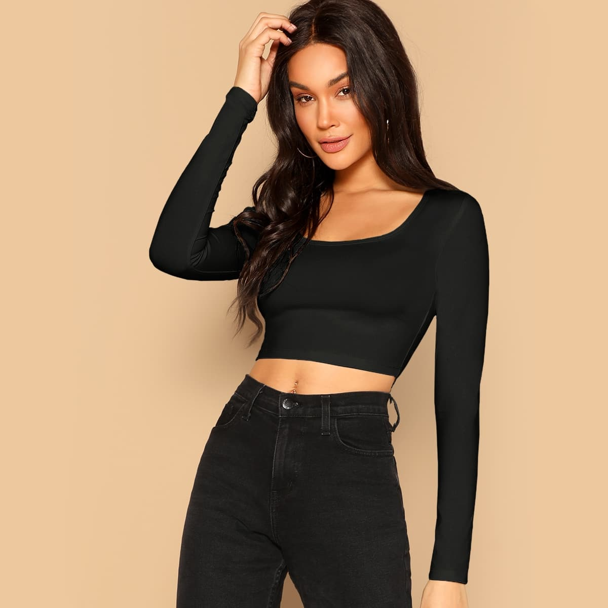 SHEIN coupon: Form Fitted Solid Top