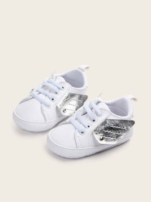 Baby Boys Two Tone Wings Decor Sneakers