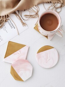 Geometric Shaped Marble Pattern Coaster 1pc