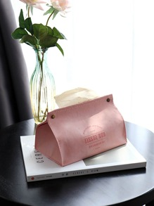 Plain Leather Tissue Box 1pc