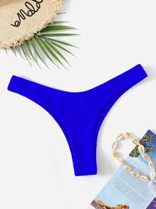 Neon Blue High Cut Swimming Panty