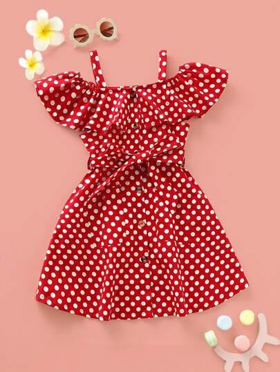 dbe11db58b7 Toddler Girl Dresses, Shop Toddler Girl Dresses Online | SHEIN UK