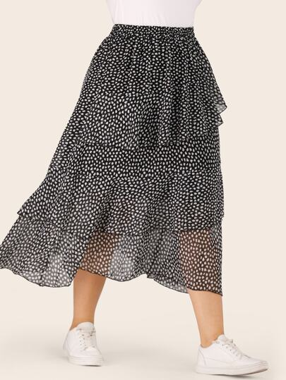 df5834be7291 Plus Size Skirts, Shop Plus Size Skirts Online | SHEIN UK