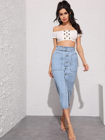 2d2f29d23a5 Denim Skirts, Shop Denim Skirts Online | SHEIN IN